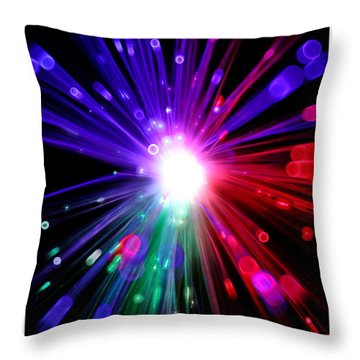 Magic Lights Throw Pillow
