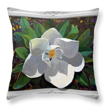 Magic Magnolia Throw Pillow