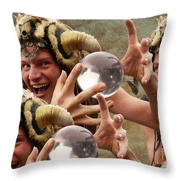 Magic Man Throw Pillow