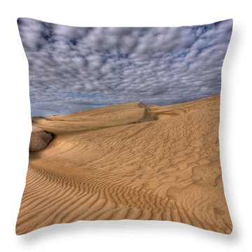 Magic Of The Dunes Throw Pillow