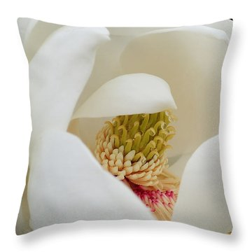 Throw Pillow featuring the photograph Magnolia Blossom by Farol Tomson
