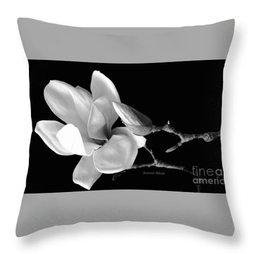 Magnolia In Monochrome Throw Pillow