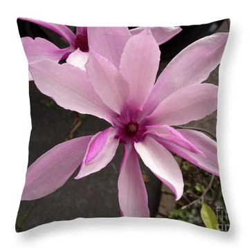 Magnolia Throw Pillow by Louise Heusinkveld