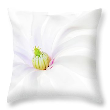 Magnolia Throw Pillow by Rebecca Cozart