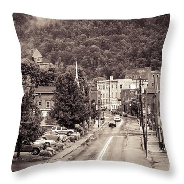 Throw Pillow featuring the photograph Main Street Webster Springs by Thomas R Fletcher