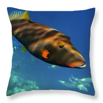 Throw Pillow featuring the photograph Maldives by Juergen Held