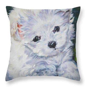 Maltese Puppy Throw Pillows