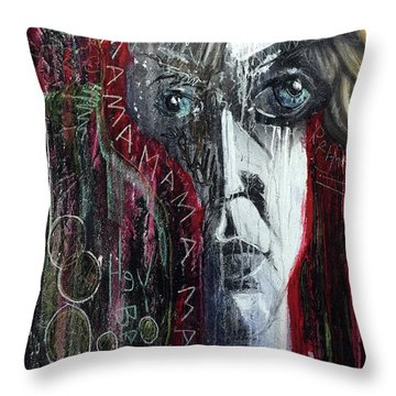 Throw Pillow featuring the photograph Mama by Rick Baldwin