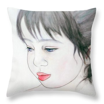 Manazashi Or Gazing Eyes Throw Pillow