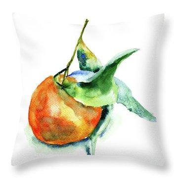 Mandarin Fruits Throw Pillow