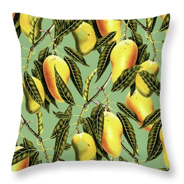 Mango Season Throw Pillow by Uma Gokhale