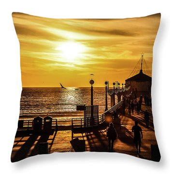 Pier Of Gold Throw Pillow