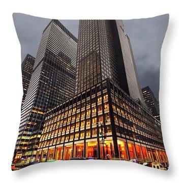 Manhattan Throw Pillow by Svetlana Sewell