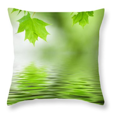 Maple Tree Throw Pillow