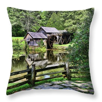Marby Mill Pathway Throw Pillow by Paul Ward