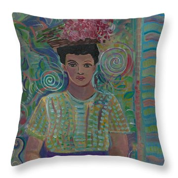 Throw Pillow featuring the painting Maria by John Keaton