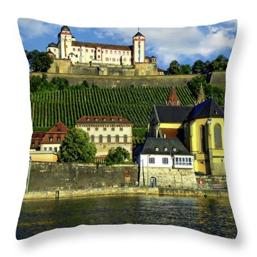 Marienberg Fortress Throw Pillow