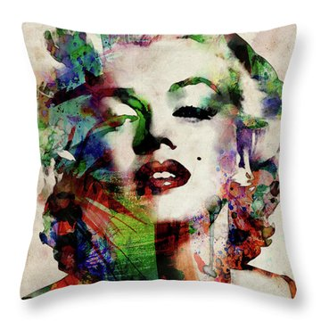 Marilyn Throw Pillow by Michael Tompsett