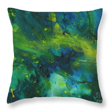 Marine Forest Throw Pillow