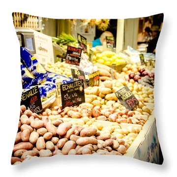 Throw Pillow featuring the photograph Market by Jason Smith