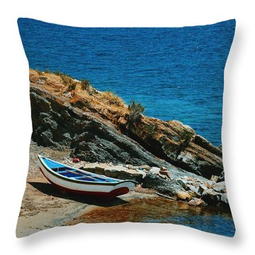 Marooned Throw Pillow by Skip Hunt