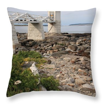 Marshall Point Lighthouse Throw Pillow