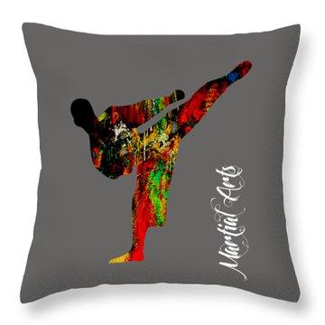 Martial Arts Collection Throw Pillow