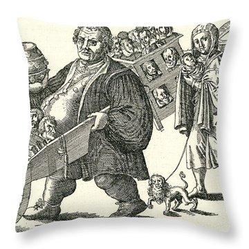 Martin Luther (1483-1546) Throw Pillow by Granger