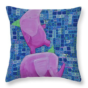 Martinis For Two Throw Pillow