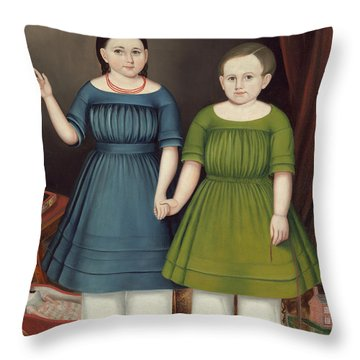 Mary And Francis Wilcox Throw Pillow
