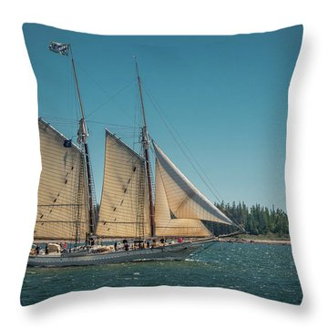 Mary Day Throw Pillow by Fred LeBlanc