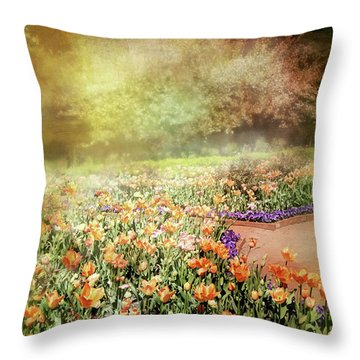 Throw Pillow featuring the photograph Masquerade by Diana Angstadt