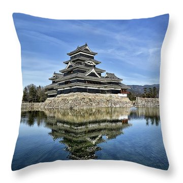 Matsumoto Castle Panorama Throw Pillow