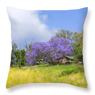Maui Upcountry Throw Pillow by Ron Dahlquist - Printscapes