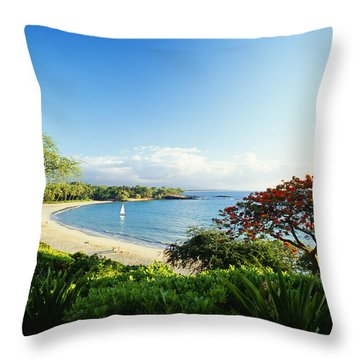 Mauna Kea Beach Throw Pillow by Peter French - Printscapes