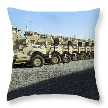 Maxxpro Mine Resistant Ambush Protected Throw Pillow by Stocktrek Images