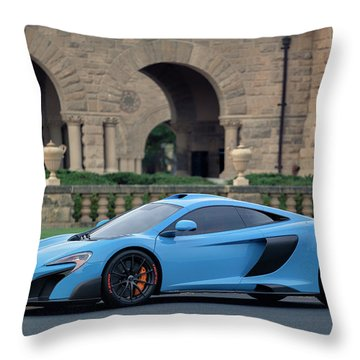 Throw Pillow featuring the photograph #mclaren #675lt With #pirelli #tires by ItzKirb Photography