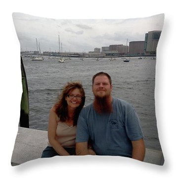 me Throw Pillow by Richie Montgomery