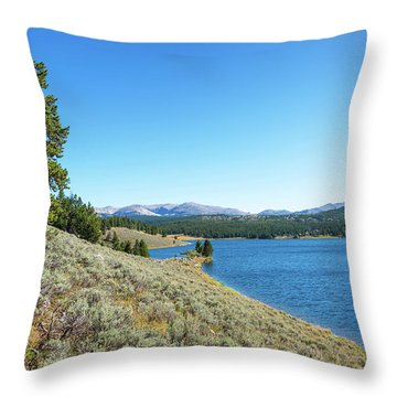 Meadowlark Lake View Throw Pillow by Jess Kraft