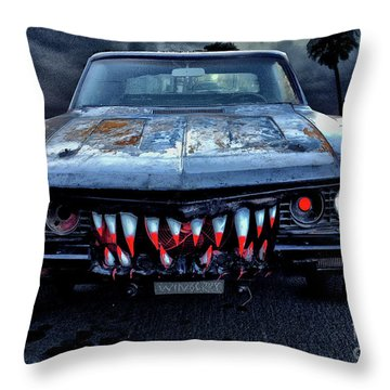 Mean Streets Of Belmont Heights Throw Pillow by Bob Winberry