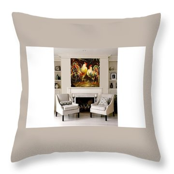 Meeting Throw Pillow by Heather Roddy