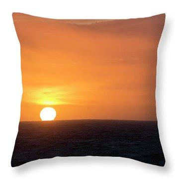 Meeting The Horizon Throw Pillow