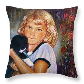 Melissa Throw Pillow by Patricia Schneider Mitchell