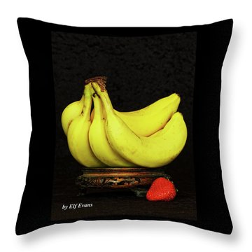 Throw Pillow featuring the photograph Mellow Yellows And Red by Elf Evans