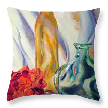 Melody In Glass Throw Pillow