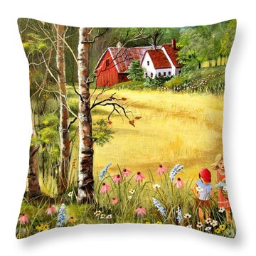 Memories For Mom Throw Pillow
