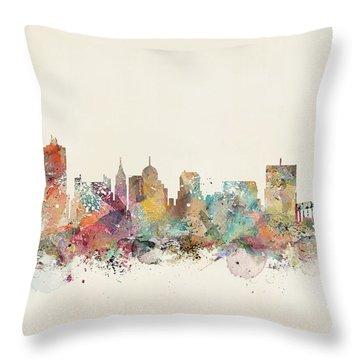 Memphis City Skyline Throw Pillow