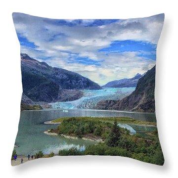Mendenhall Glacier Throw Pillow