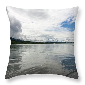 Mendenhall Lake Throw Pillow