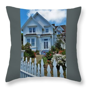 Mendocino Cottage Throw Pillow